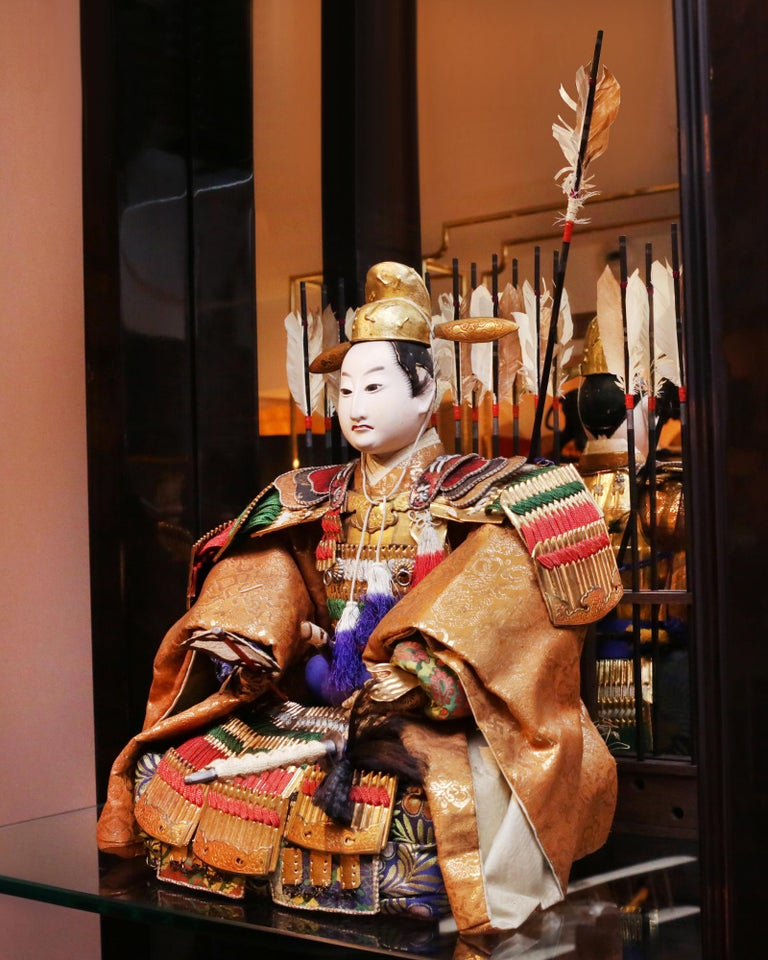 Toyomi Hideyoshi Japanese Doll Meiji Era In Excellent Condition For Sale In Paris, FR