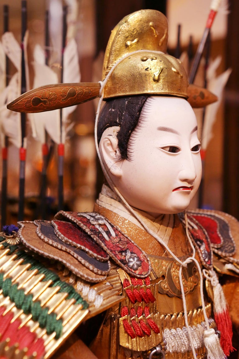 Toyomi Hideyoshi Japanese Doll Meiji Era For Sale 3