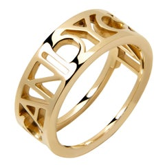 9ct yellow gold stacking 'Candy C*nt' ring