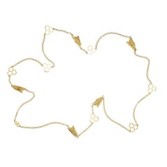 TPL Gold Bee Honeycomb Necklace