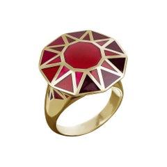 TPL Gold Enamel Cocktail Ring