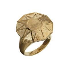 TPL Gold Geometric Cocktail Ring
