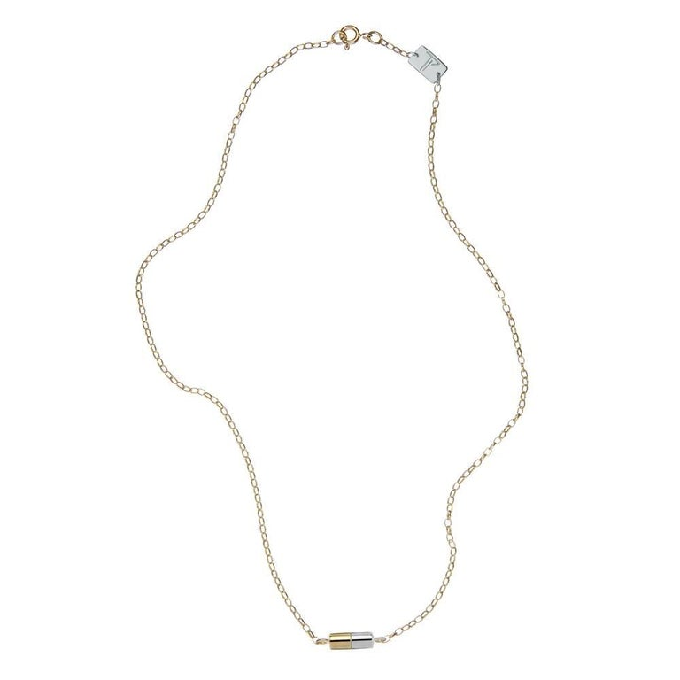 TPL Gold Silver Pill Necklace