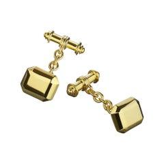 TPL Gold Vermeil Geometric Cufflinks