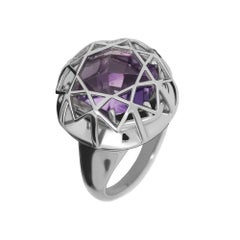 TPL Silver Amethyst Cocktail Ring