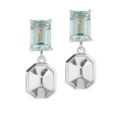 TPL Silver Aquamarine Earrings