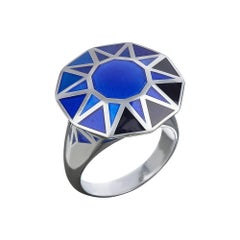 TPL Silver Enamel Cocktail Ring