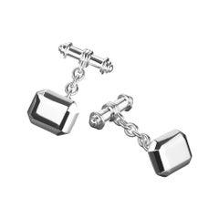 TPL Silver Geometric Cufflinks