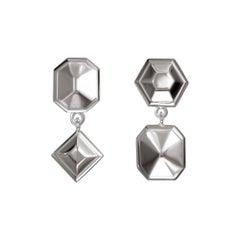 TPL Silver Geometric Drop Earrings