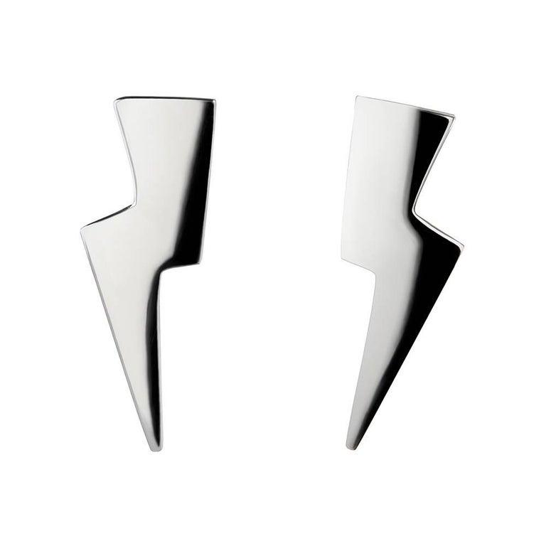TPL Silver Lightning Bolt Earrings