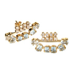 TPL Vermeil Aquamarine Topaz Earrings