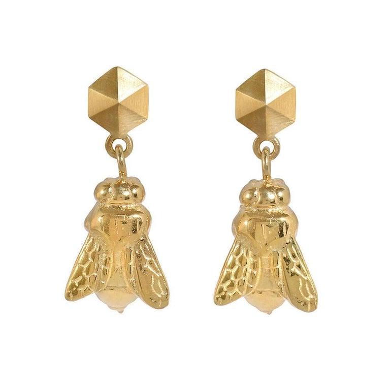 TPL Vermeil Bee Earrings