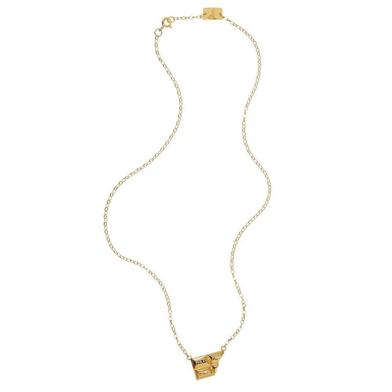 TPL Vermeil Chocolate Bar Necklace