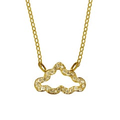 18ct yellow gold vermeil and diamond 'Silver Lining' cloud necklace