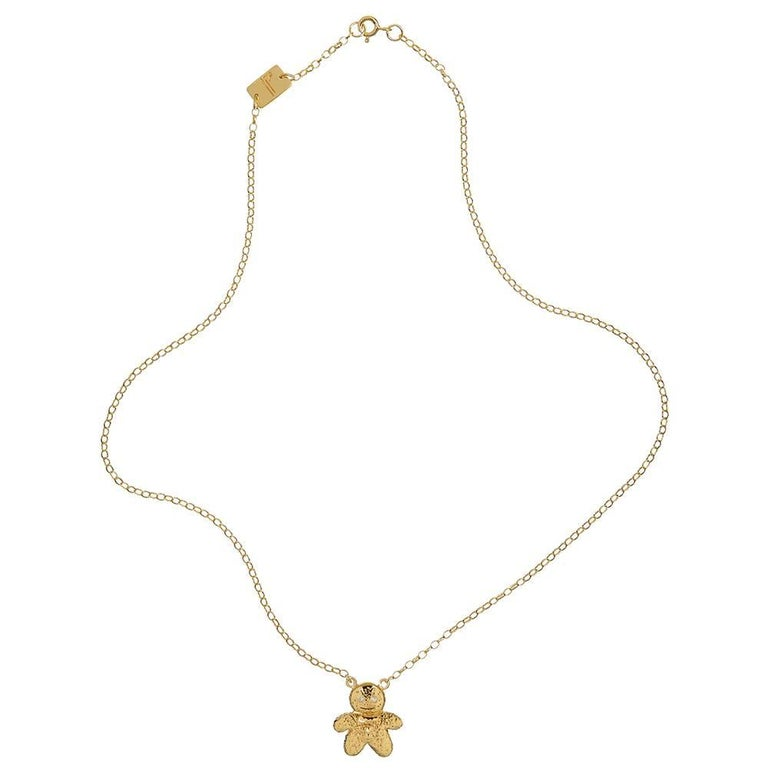 TPL Vermeil Diamond Gingerbread Man Necklace