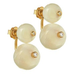 TPL Vermeil Diamond Mother-of-Pearl Earrings