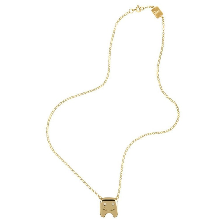 TPL Vermeil Diamond Tooth Necklace