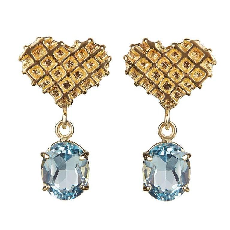 TPL Vermeil Heart Topaz Earrings