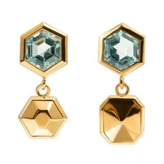TPL Vermeil Topaz Drop Earrings