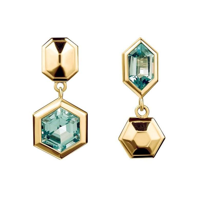 TPL Vermeil Topaz Geometric Earrings