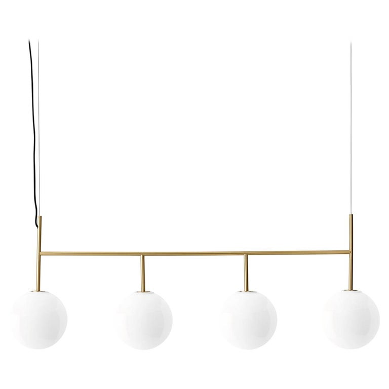 TR Bulb, Suspension Frame, Brushed Brass, Matte Opal For Sale