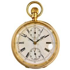 T.R Russel's Swiss Split Second 18-Karat Gold Chronograph