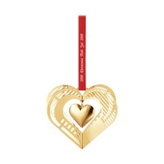 Traberg Gold-Plated Heart Christmas Mobile for Georg Jensen