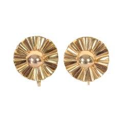 Trabert and Hoeffer Mauboussin Retro Gold Earrings