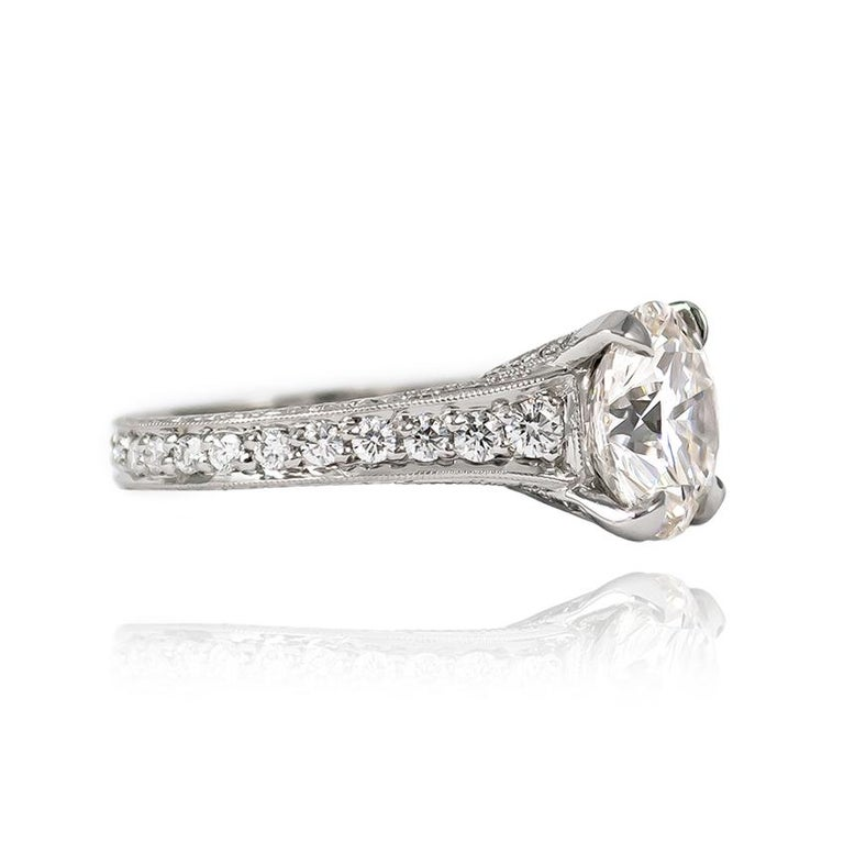 Trabert & Hoeffer 3.24 Carat H SI1 Brilliant Round Diamond Ring In New Condition For Sale In New York, NY