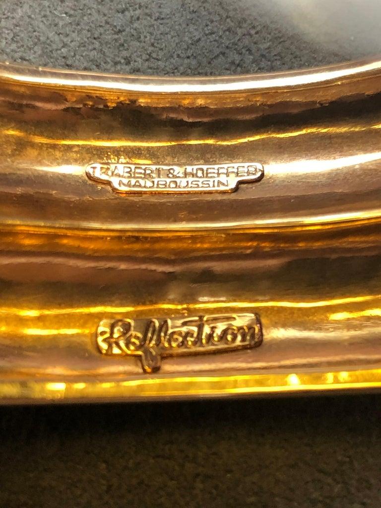Emerald Cut Trabert & Hoeffer Mauboussin Citrine Amethyst Diamond Reflection Bracelet For Sale