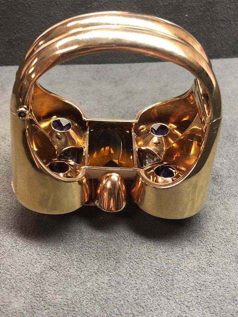 Trabert & Hoeffer Mauboussin Citrine Amethyst Diamond Reflection Bracelet In Good Condition For Sale In New York, NY
