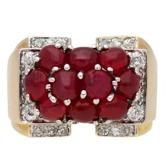 Trabert & Hoeffer with Mauboussin Burmese Ruby Cocktail Ring, circa 1940.