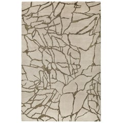 Tracery Hand-Knotted 6x4 Floor Rug in Wool and Silk by Kelly Wearstler