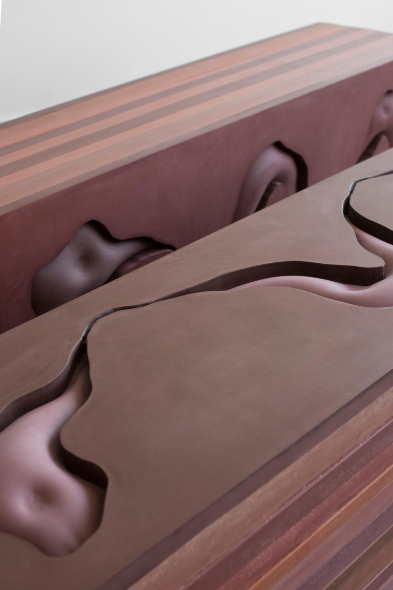 Danish Contemporary Jesmonite Bench by Hilda Hellström, 'Traces of Your Behind II' For Sale