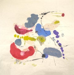 """Tracey Adams """"Rajas 12"""" -- Abstract Painting on Paper"""