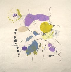 """Tracey Adams """"Rajas 13"""" - Abstract Painting on Paper"""