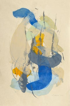 """Tracey Adams """"Guna SS"""" -- Abstract Painting on Paper"""