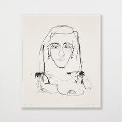 Four Thousand Years - Emin, Contemporary, YBAs, Lithograph, Portrait, Black