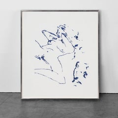 The Beginning of Me - Emin, Contemporary, YBAs, Lithograph, Blue, Portrait