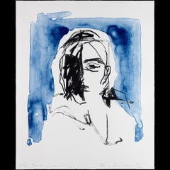 These Feelings Were True - Emin, Contemporary, YBAs, Lithograph, Portrait,Blue