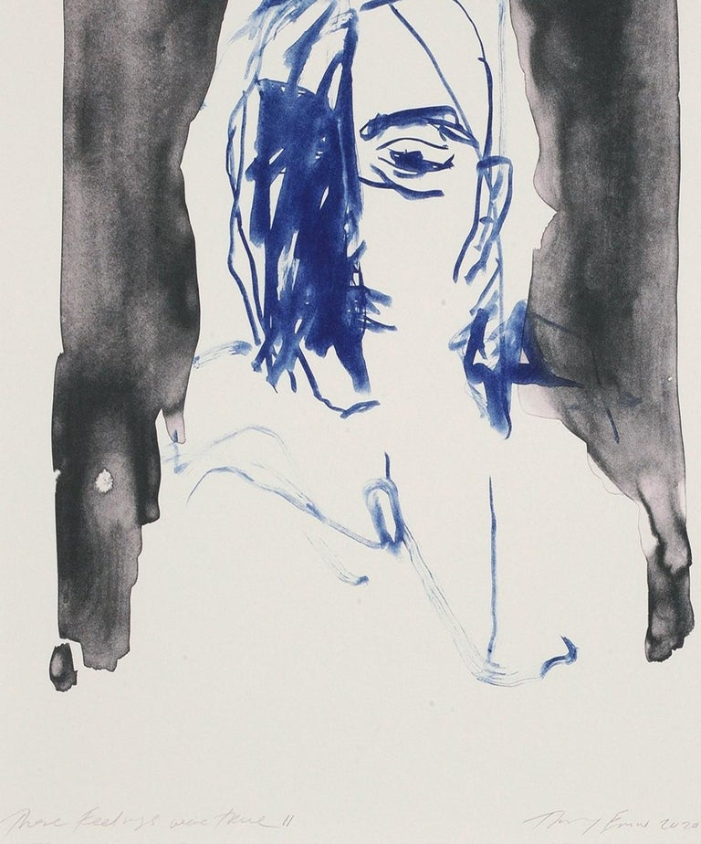 These Feelings Were True II - Emin, Contemporary, YBAs, Lithograph, Portrait - Young British Artists (YBA) Print by Tracey Emin