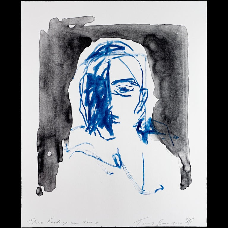 Tracey Emin Figurative Print - These Feelings Were True II - Emin, Contemporary, YBAs, Lithograph, Portrait