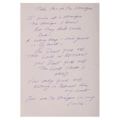 Tracey Emin, Take This To The Stranger, Offset Lithograph Print, 2013
