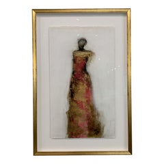 Figure Framed with Gold Leaf by Tracy Sharp