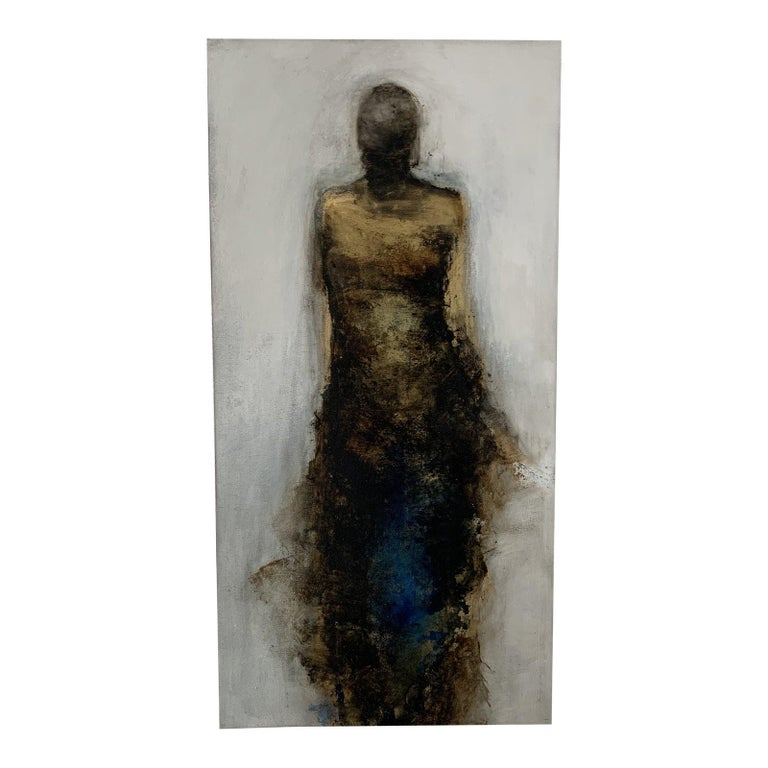 """Tracy Sharp Figurative Painting - """"Rise"""" Mixed Media on Panel"""