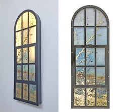 Saltwater Window, mixed media, 55 x 35 inches. Glass design