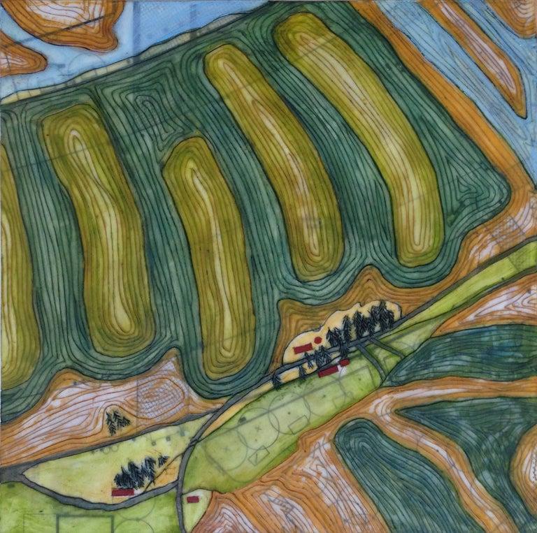 Tracy Spadafora Landscape Painting - Crop