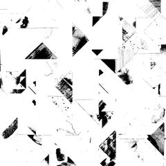 Trade Routes-Geometric Print Wallpaper in Black/White Colorway, on Smooth Paper