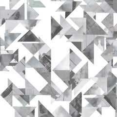 Trade Routes-Geometric Print Wallpaper in Grey Colorway, on Smooth Paper