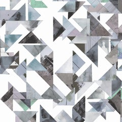 Trade Routes-Geometric Print Wallpaper in Pastel Colorway, on Smooth Paper